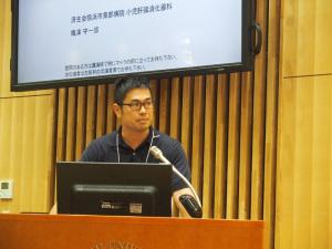 小児期発症原発性硬化性胆管炎(小児PSC)の長期予後因子に関する検討」を発表している梅津守一郎会員